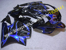 Hot Sales,For Honda CBR600 F3 97 98 Parts CBR 600 F3 1997 1998 CBR600F3 Blue Flame Motorcycle Fairing Kits (Injection molding)