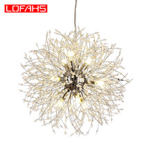 цены LOFAHS Modern Crystal Chandelier Chrome Golden vanity suspension Chandelier LED Lighting lustre for Living Room Business Club