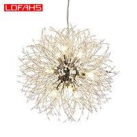 LOFAHS Modern Crystal Chandelier Chrome Golden vanity suspension Chandelier LED Lighting lustre for Living Room Business Club