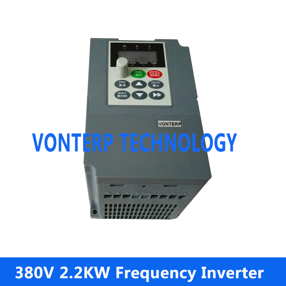 цена на 380V 3 phase 2.2KW 5.1A AC Motor Speed Controller Variable Frequency Drive VFD Inverter ac drives/frequency inverter