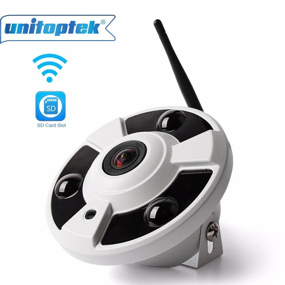 цена на 2MP WIFI IP Camera 1080P Audio Fisheye 180/360 Degrees TF Card Slot Security Wireless Camera Onvif CCTV Wi-Fi Cam APP View