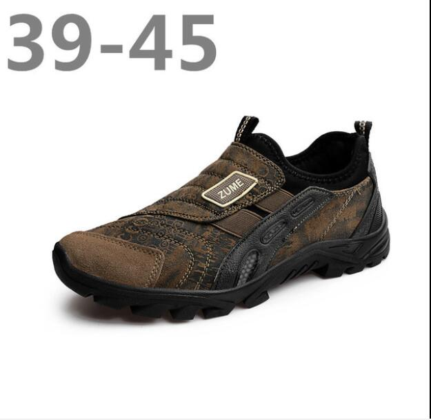 Sneakers Hiking-Shoes Outdoor Boots Mountain-Climbing Spring/autumn Rubber Men Slip-On