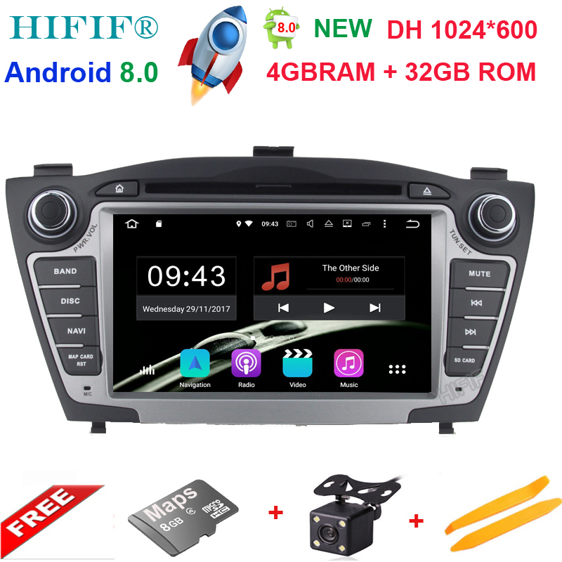 7 Octa Core 4GB+32GB Pure Android 8.0 2Din Car DVD For Hyunda IX35 Tucson 2009-2015 Car Radio RDS Video Player GPS Navigation 10 1 tda7851 android 7 1 for hyundai ix35 tucson 2015 2016 2017 2gb ram car dvd player gps map rds radio wifi 4g bluetooth 4 0