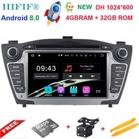 7 Octa Core 4GB+32GB Pure Android 8.0 2Din Car DVD For Hyunda IX35 Tucson 2009 2015 Car Radio RDS Video Player GPS Navigation