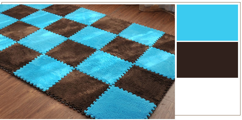 HTB1.CG5peOSBuNjy0Fdq6zDnVXaa 1Pcs 30*30cm EVA Plush Puzzle Mats Foam Shaggy Velvet Carpet Decorative Kids Room for Crawling Play Toys 8-Colors(Sample Try)