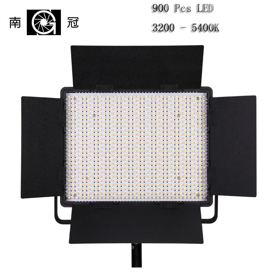 Nanguang CN-900CSA LED Vedio Light Illumination Dimming Dimmable Brightness Adjustment 5600K Panel Light Lamp for Camera Video nanguang cn 900csa dimmable illumination 900pcs led beads led vedio fill light lamp for canon nikon dslr camera