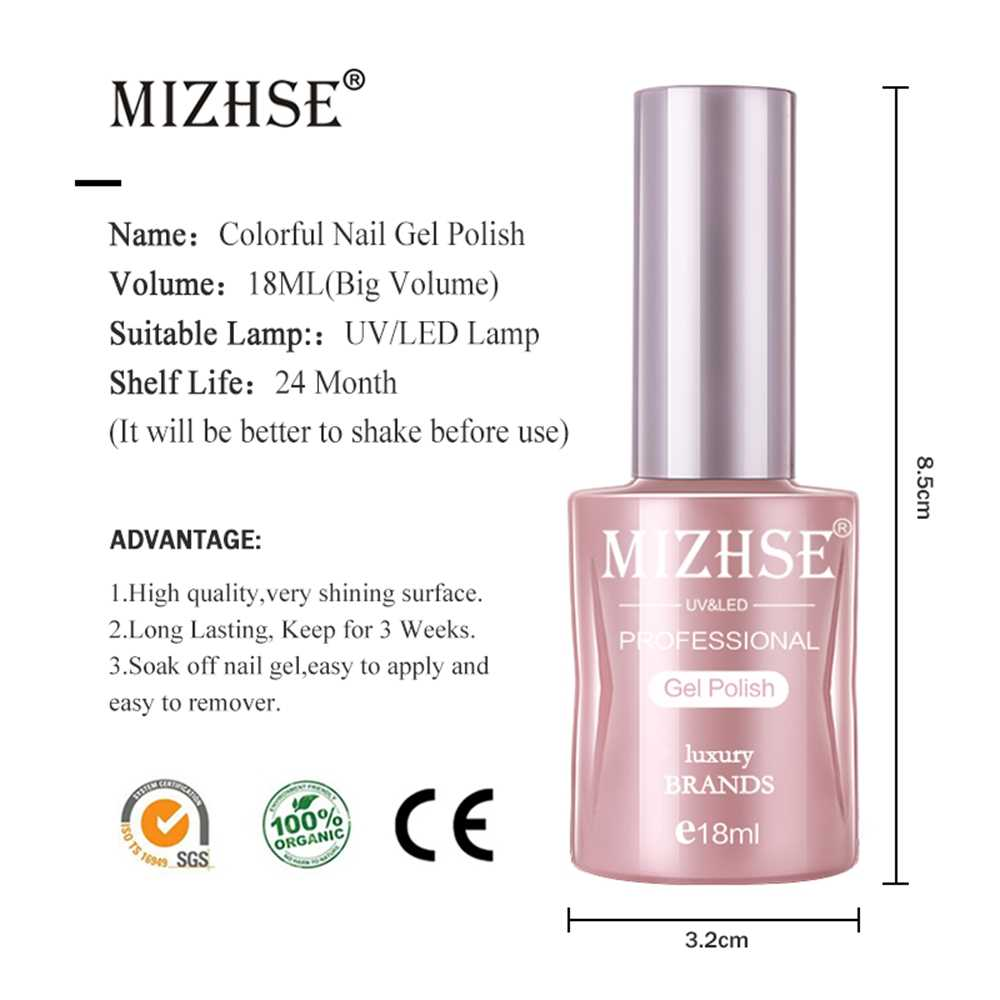 MIZHSE 18 ml Versterking Gel Polish UV/LED Gel Polish Vernis Beschermen Versterken Clear Transparante Kleur Sterke Lijm
