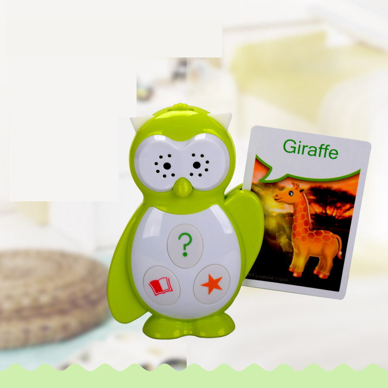 Hibou enfants histoire machine lecture machine avec 44 pièces cartes d'animaux pour les enfants apprennent knlowledge