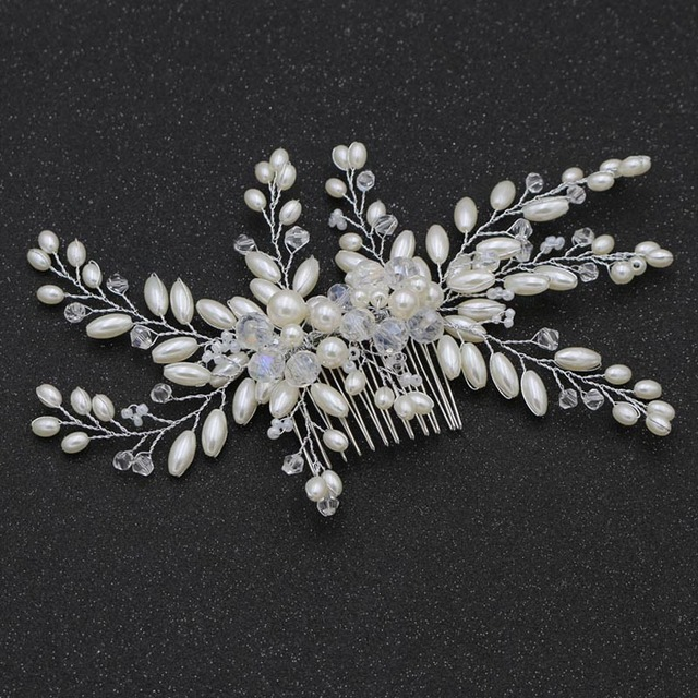 Aliexpress Com Buy Beauty Bridal Hair Accessories Imitate Pearl