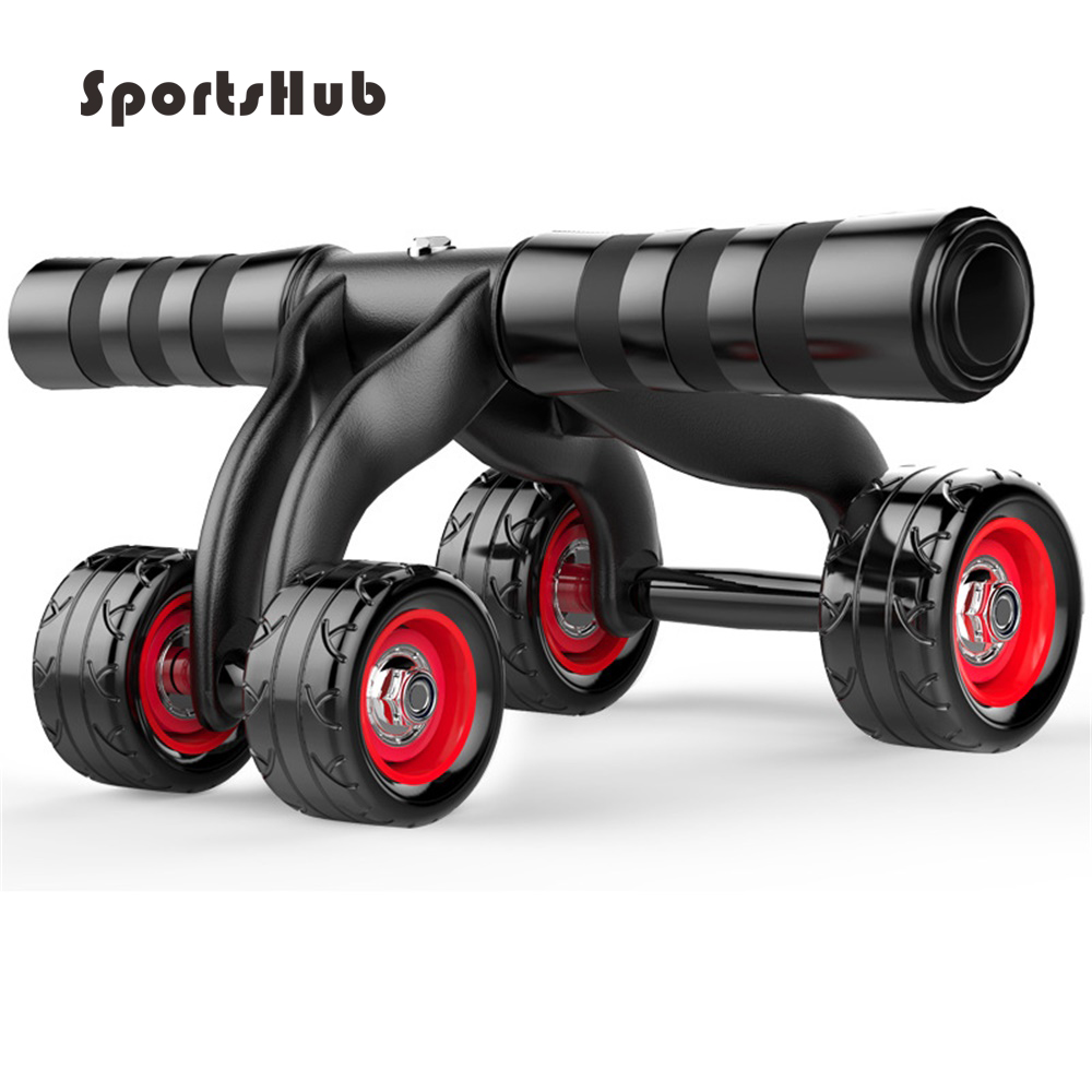 SPORTSHUB Four-Wheels Abdominal Wheel Ab Rollers For Home Exercise Gym Equipment Waist Workout Fitness Roller EF0016 new arrival high quality exercise equipment professional 4 wheels abdominal ab roller indoor fitness crossfit equipment