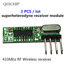 3pcs superheterodyne 433mhz rf Wireless receiver Module small size low power For 433 Mhz remote control a low power and high precision formaldehyde sensor for the ze08 ch2o small size tester for formaldehyde module