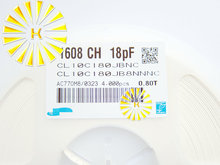 100% Оригинал 1608 CH 18PF 0603 18PF 50 В 0.8 Т Керамический Конденсатор SMD Разъем CL10C180JB8NNNC х 4000 шт.