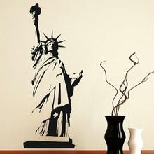 цена на New York Landmark Statue of Liberty Vinyl Wall Decal Office University Dormitory Living Room Home Decor Wall Decal CS04