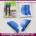 (2 peças/saco) ESTOQUE 2 Peças de Plástico Azul fácil Instalação velocidade separador clipes para extensões do cabelo/grampos seção