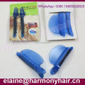 (2 pieces/bag) STOCK 2 Pieces Plastic Blue easy speed separator clips for hair extensions Installation/section clips