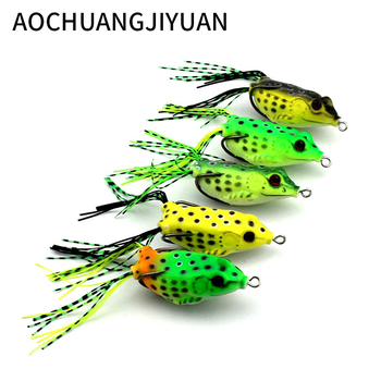 Cheap  fishing lure Mixed 5 models fishing tackle 5 color 6cm13g Minnow lure Crank Lures Mix fishing bait Frog Fishing lures