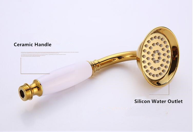 White Shower Head Set 25