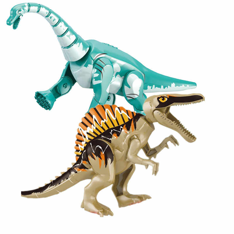 2019 Jurassic World Park Raptor Dinosaur Tanystropheus Triceratops Baryonyx Figures Building Blocks Bricks Toys For Children