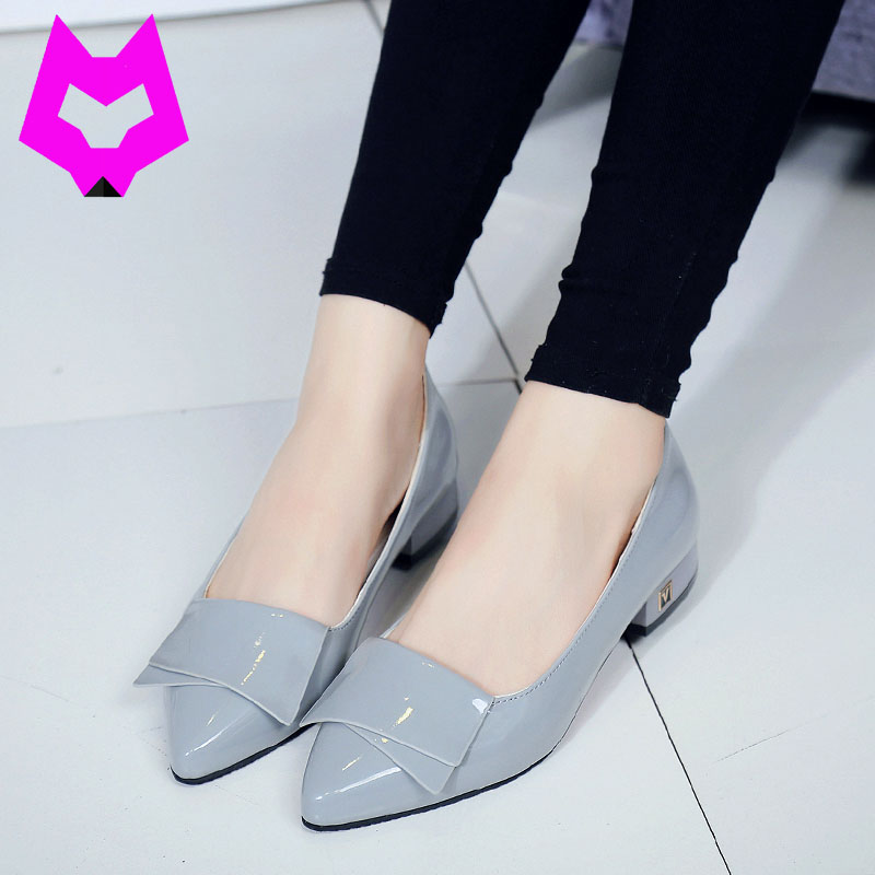Wolf Who Mary Jane Shoe Women Pumps Sweet Bowknot woman Low Heels Platform Shoes Pointed toe casual Stiletto Elegant shoes woman