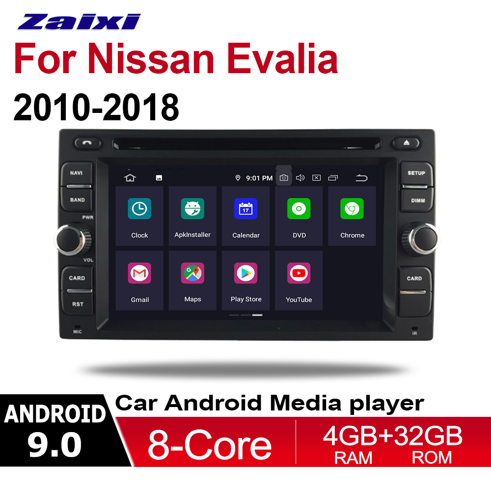 ZaiXi 2 Din Car Multimedia Player Android 9 Auto Radio For Nissan Evalia 2010~2020 DVD GPS 8 Cores 4GB+32GB Bluetooth WiFi image