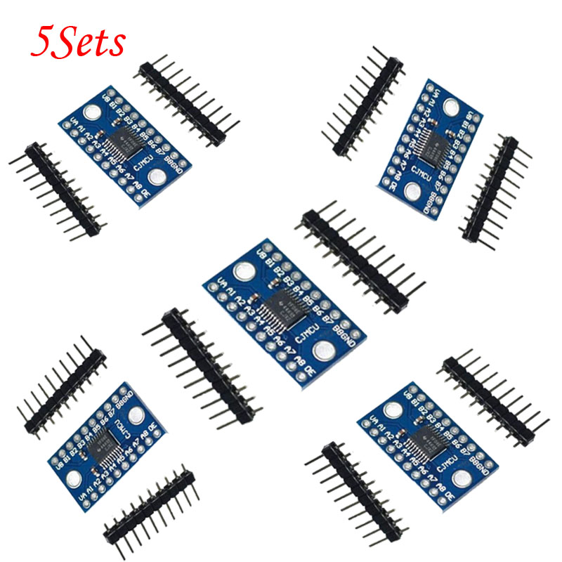 US $4 6 |5Sets New TXS0108E 8 channel level shifter module 8 bit  bidirectional voltage converter-in Replacement Parts & Accessories from  Consumer