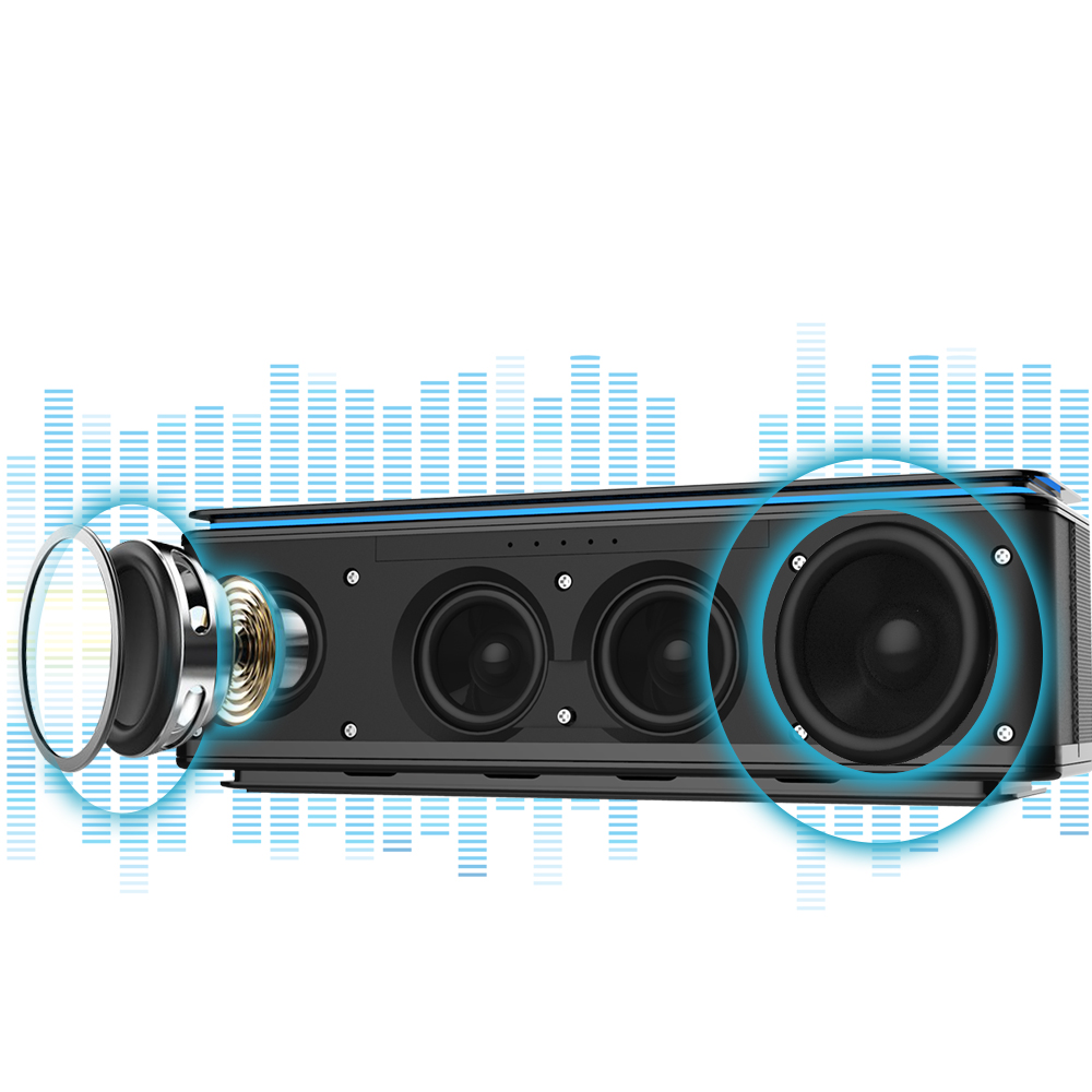 4 Drivers Bluetooth Speaker Touch Control Brand ZEALOT Wireless Speakers Audio Home Music Theatre 3D Stereo System zealot touch control bluetooth speaker wireless 4 drivers audio home music theatre hifi stereo 3d surround subwoofer for android