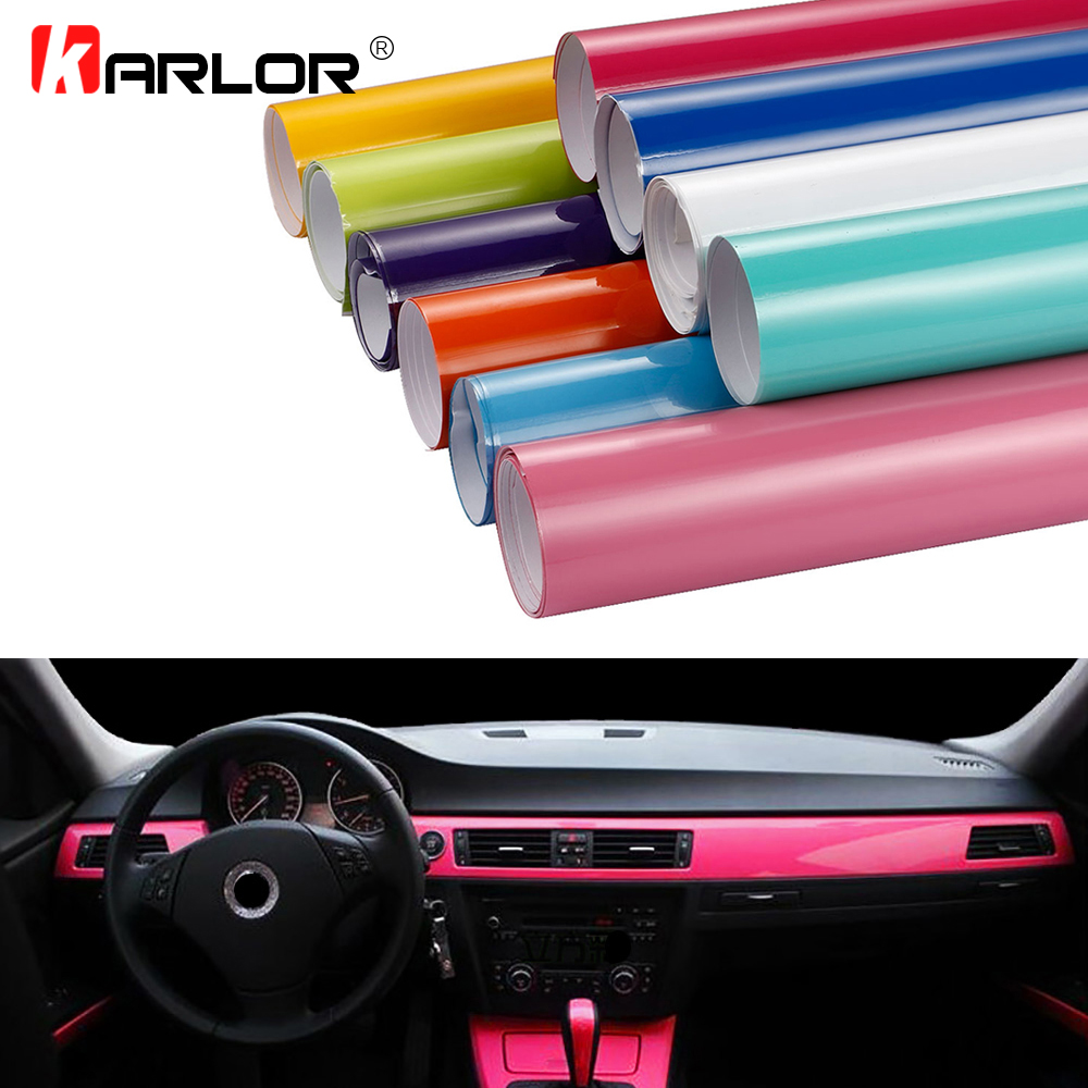 50x200cm Bright Glossy Vinyl Film High Glossy Decoration Color Change Car Wrapping Foil Sticker DIY Automobiles Motorcycle Decal