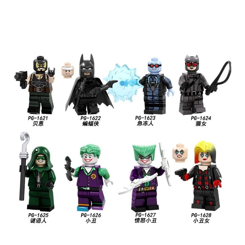 Single Sale Super Heroes Building Blocks Bane Catman Batman Riddle Clown Girl Action Figures Toys For Children PG8186