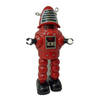 [Funny] Adult Collection Retro Wind up toy Metal Tin space mechanical planet bullet robot Clockwork toy figures model kids gift