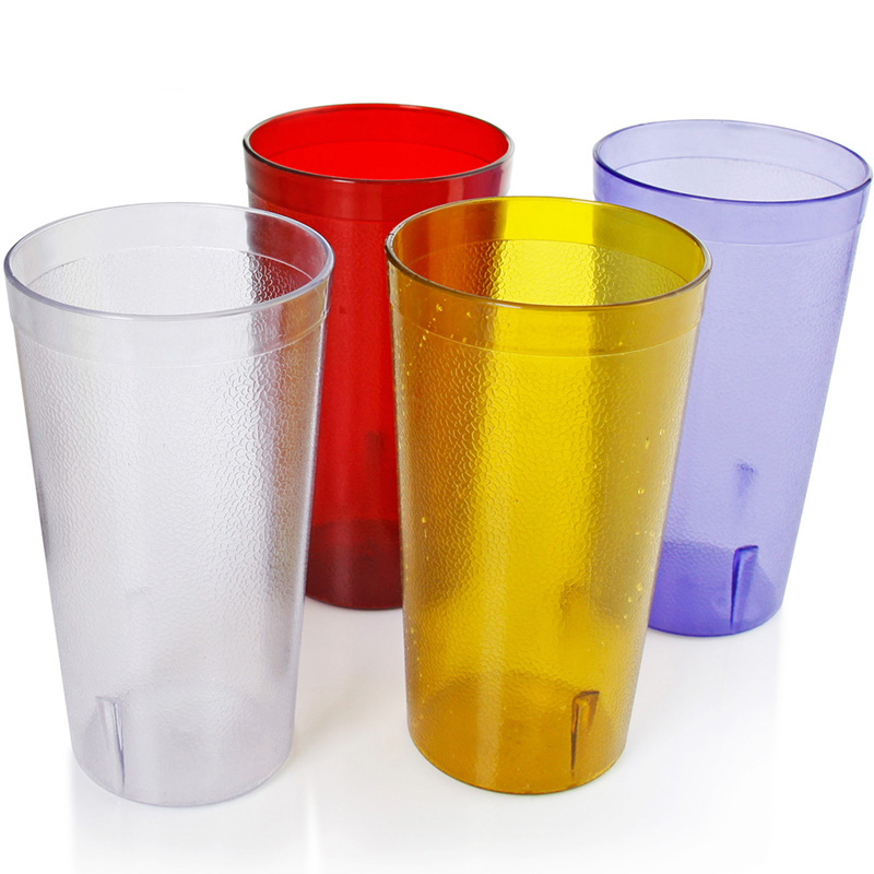 4pcs Reusable Water Drinking Cup Resistant Drinking Cups Plastic Tumblers Cola Coffee Soda Party Beverage Cup Drink Accessories cup