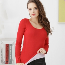 Fashion New Warm Thermal Underwear Women Thickened Round Collar Winter Women Top Clothes thickening camiseta termica mujer