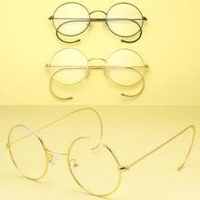 7aa0e67b71 Vintage Round Eyeglass Frames 42 mm Wire Rim John Lennon Steve Jobs Harry  Potter Glasses Full Rim Rx able