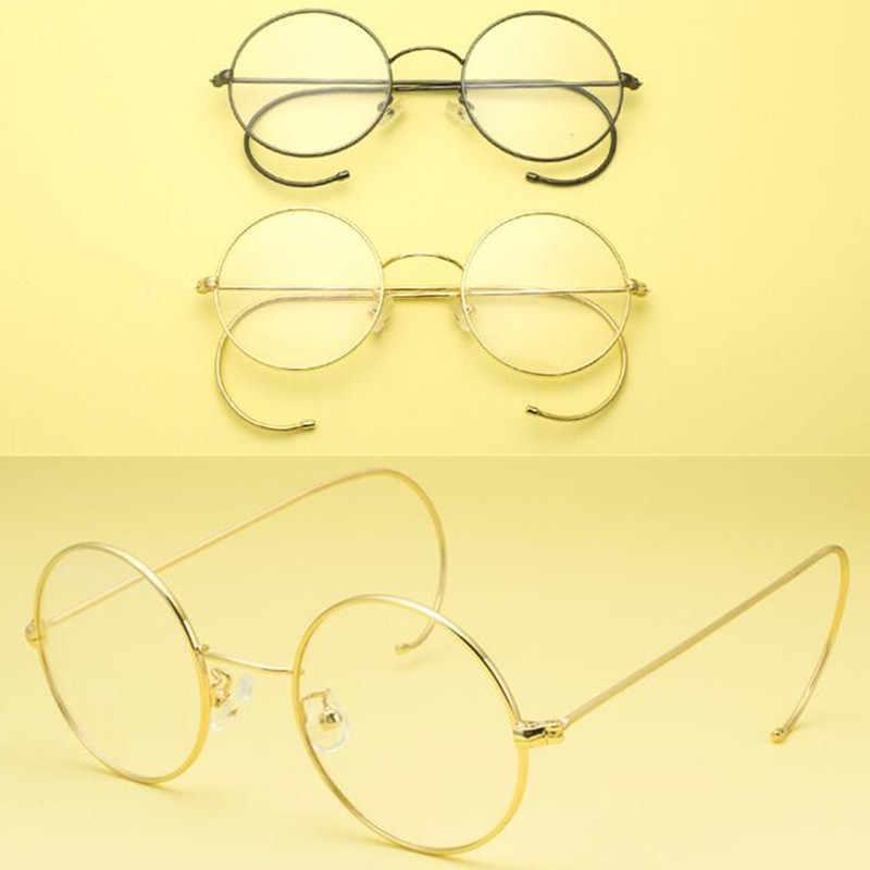 997ae6317e22 Vintage Round Eyeglass Frames 42 mm Wire Rim John Lennon Steve Jobs Harry  Potter Glasses Full