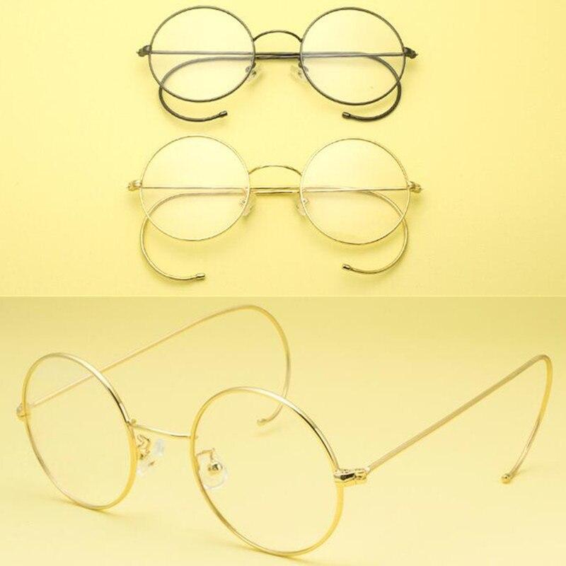 Vintage Round Eyeglass Frames 42 mm Wire Rim John Lennon Steve Jobs Harry Potter Glasses Full Rim Rx able