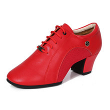 Sneakers Modern Dance Shoes For Women Leather Latin Ballroom Sports Sailor