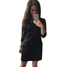 EF Moda hanım Bodycon Casual Akşam Parti Mini Elbise Düz Elbise Sıcak LL2