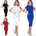 2017 Summer New Fashion Style Party Dresses For Women Elegant Ruffle Sleeve Knee-Lenght Bodycon Dress ZPP061 Plus Size S-5XL