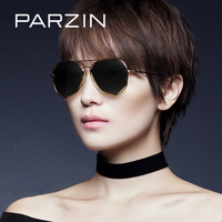 PARZIN Fashion Big Alloy Frame Aviator Sunglasses For Women Multilateral Geometry Design Polarized Traveling For Driving