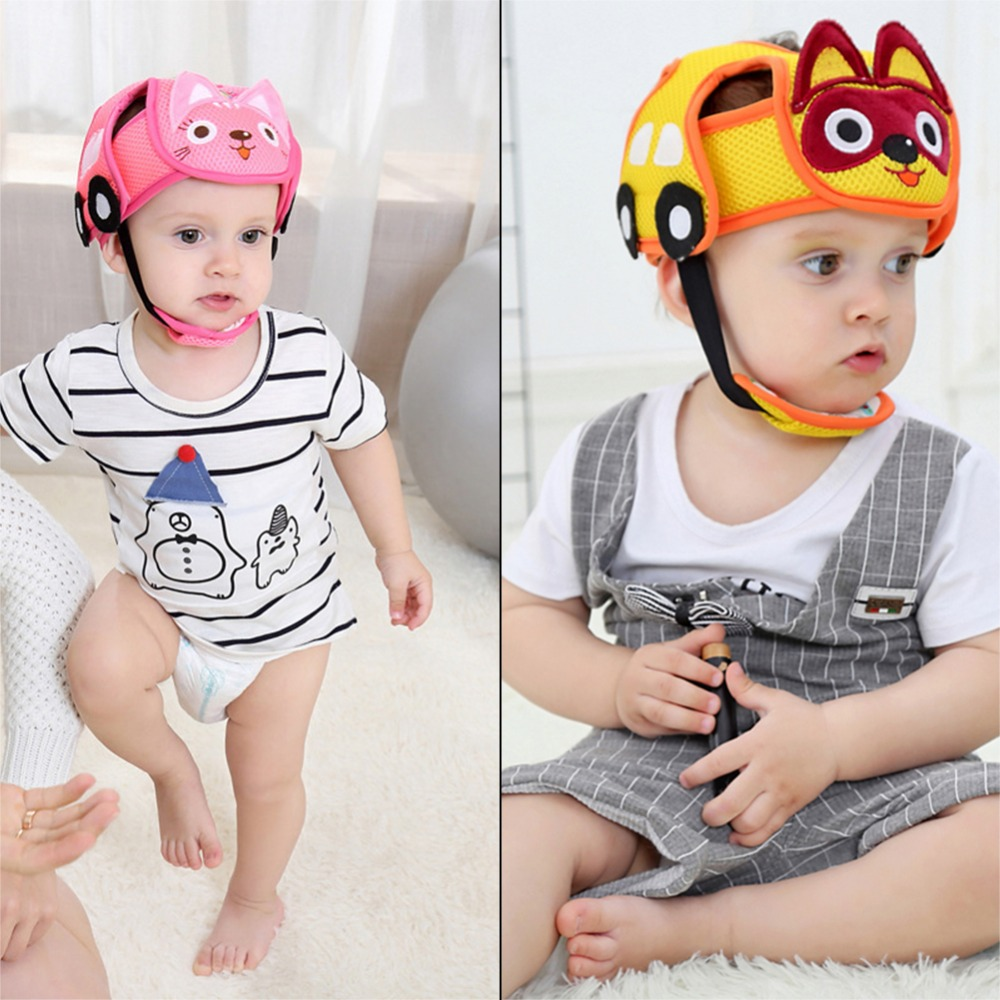 92ddcc28f33 Anti Collision Adjustable Safety Helmet Headguard Protective Harnesses Cap  Bumper For Baby Children Infants-in Hats   Caps from Mother   Kids on ...