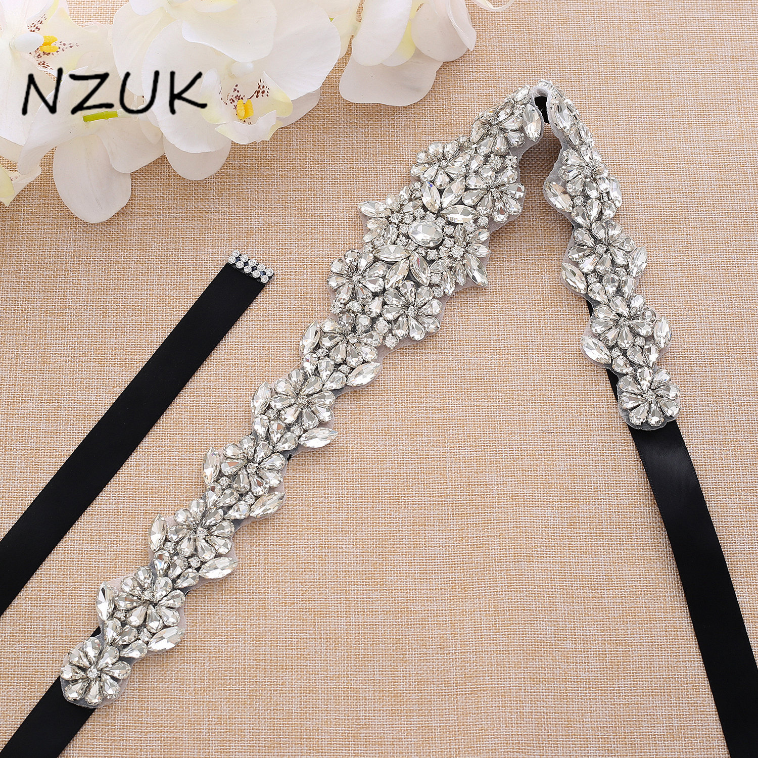 Vintage Rhinestone And Pearl Bridal Belt Handmade Crystal Sash Beaded Appliqued Sash Belt For Wedding Dress ZZY168S