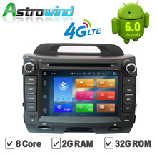 8 Core,2G RAM,Android 6.0 Car GPS Navigation Stereo Media Radio Autoradio Video Audio System Headunit For Kia Sportage R