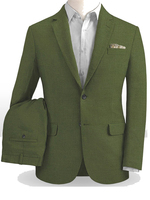 Olive Green Linen Suits Men Tailor Made Light Weight Groom Suits For Beach Wedding Suits For Men Custom Made Green Lien Suits