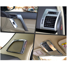 For Toyota Land Cruiser 150 Prado LC150 FJ150 2010-2017 Interior Moulding Trim Cover Chrome Package Car Styling Accessories цена в Москве и Питере