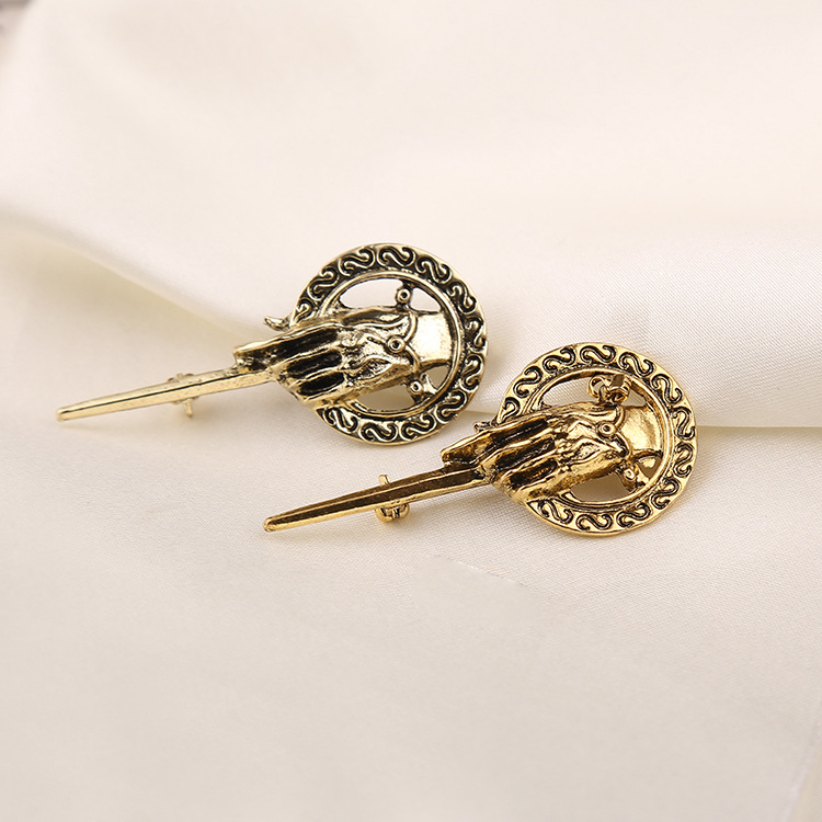 Game Of Thrones Badge Song Of Ice And Fire Brooch Hand Of The King Lapel Inspired Authentic Prop Badge Brooch Pins Movie Jewelry
