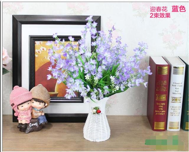 free shipping,hihg 40m,rose/winter jasmine artificial flower living