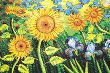 Sun Flowers Fluorescent paper puzzle 1000 pieces Noctilucent jigsaw puzzles 1000 for adults kids' 1000 jigsaw puzzles