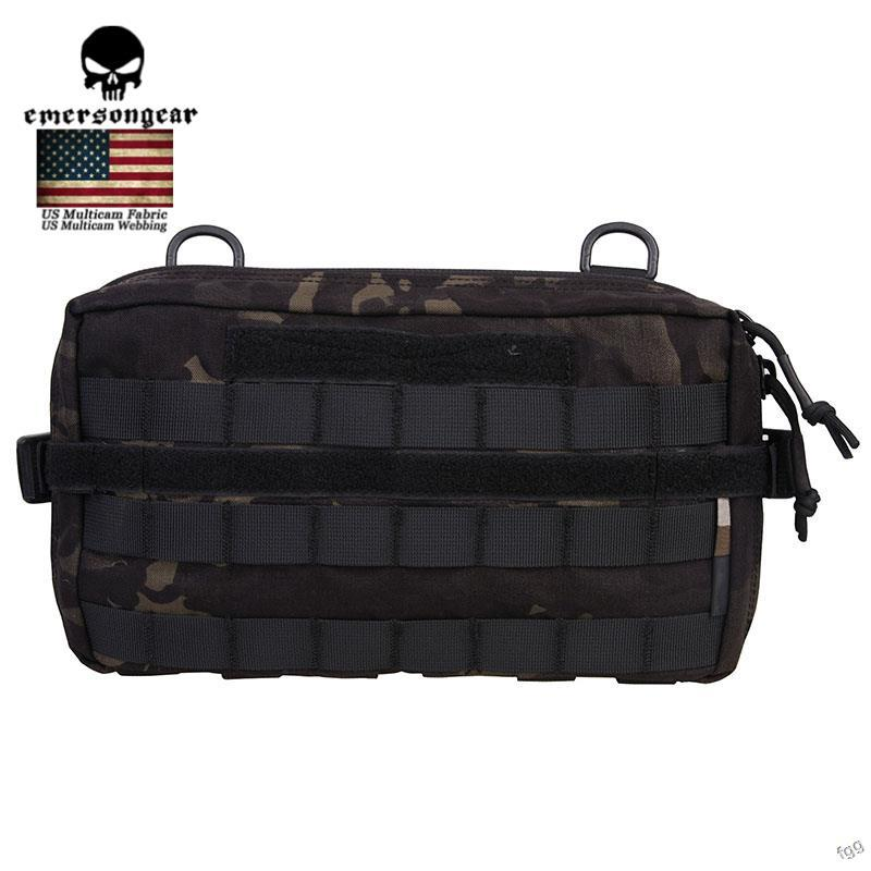 Emerson Tactical Waist EDC Bag Molle 500D Outdoor Military Hunting Multi-functional Utility Pouch Nylon Bag 32x18CM outdoor military admin pouch tactical pouch multi medical kit bag utility pouch for camping walking hunting