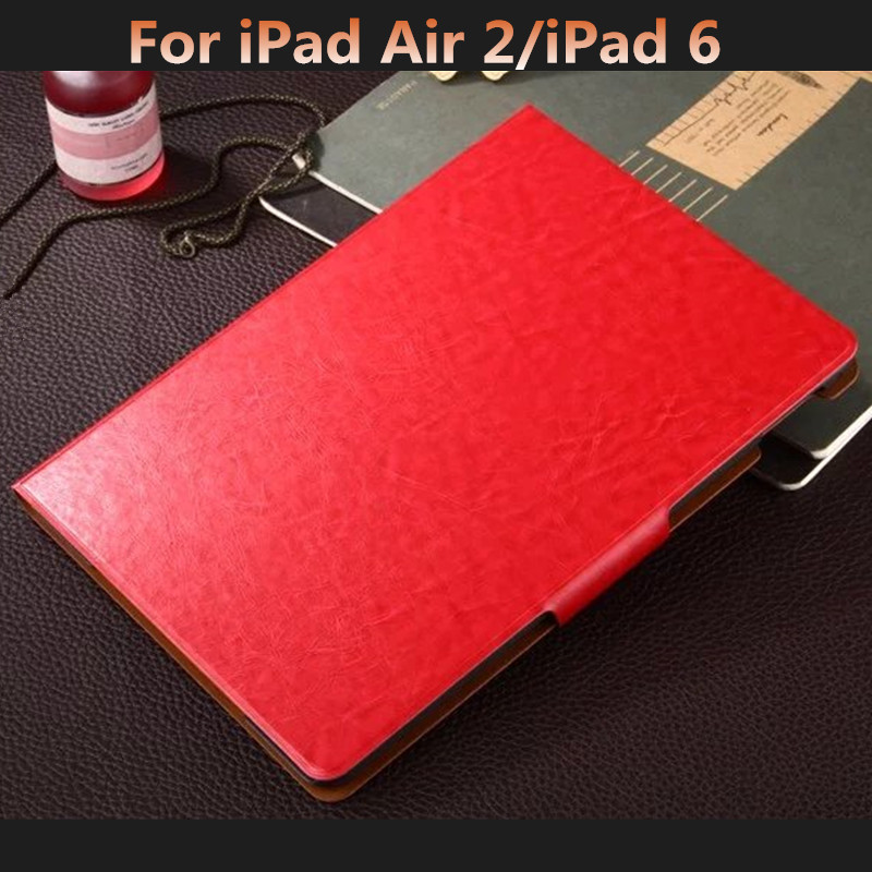 Luxury Flip Magnetic Cover for iPad Air 2 PU Leather Case for iPad Air 2/iPad 6 Tablet Case 9.7 Smart Cover with Card Slots luxury smart cover for ipad air 2 flip pu leather case for ipad air 2 ipad 6 tablet protective shell case 9 7 stand book cover