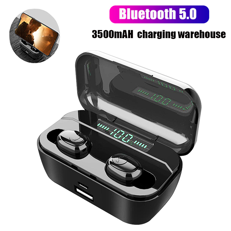 New Bluetooth 5.0 Earphone G6s TWS Wireless Headphons Sport Handsfree Earbuds 8D Stereo Gaming Headset With Mic Charging Box