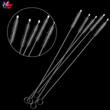 Baby Milk Feeding Bottle Drink Water Cup Straw Washing Brush Cleaner Stainless Steel Handle Spiral Soft Hair Cleaning Tool 5pcs(China)